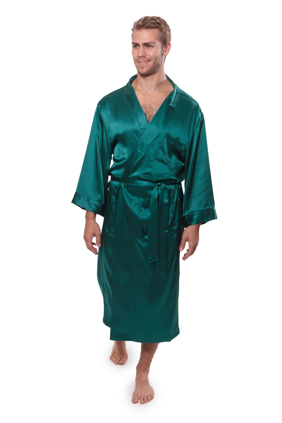 Turin - Men's Silk Robe - TexereSilk