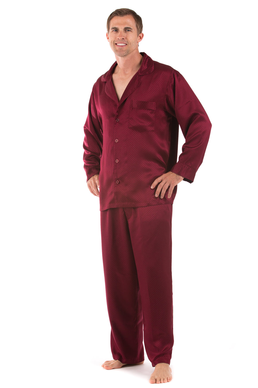 Duke of Burgundy - Silk Jacquard PJ Set - TexereSilk