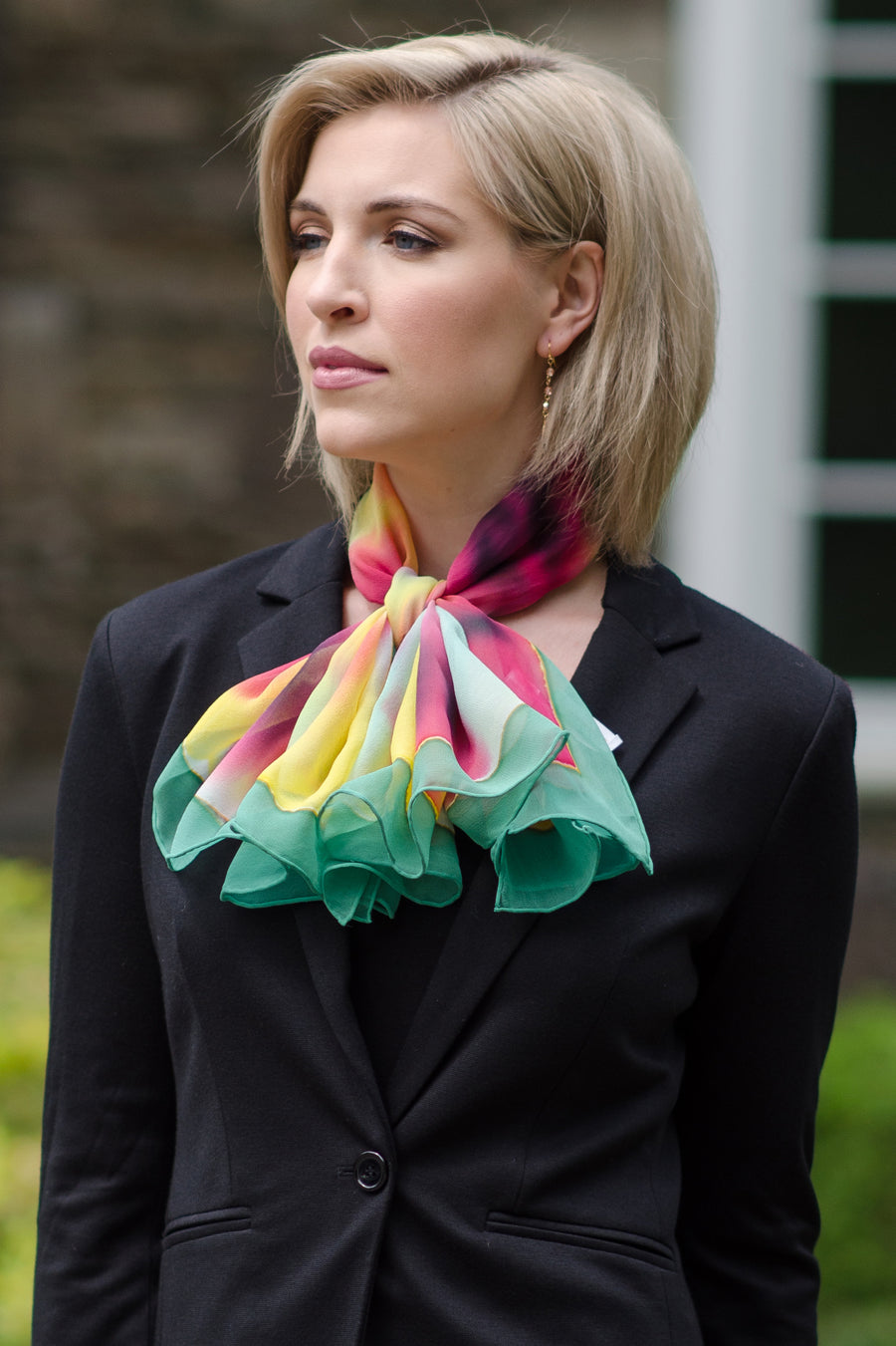 Spring Is Here - Women's Silk Oblong Scarf - TexereSilk