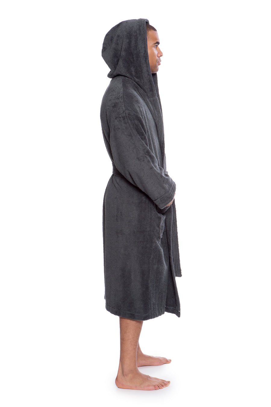 Eklips - Men's Bamboo Viscose Hooded Terry Bath Robe - TexereSilk
