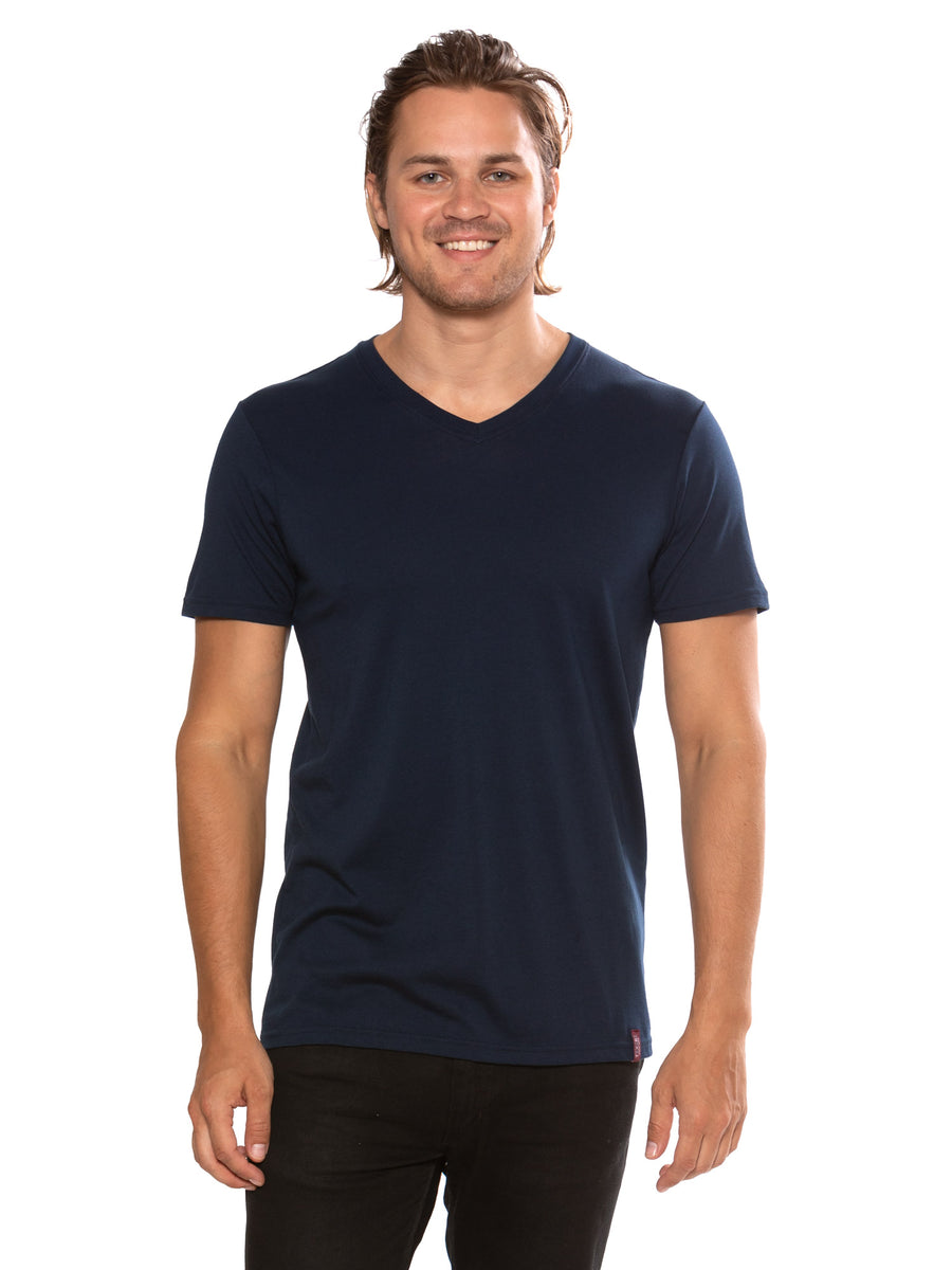 Frissell- Men's Organic Pima Cotton V-Neck - TexereSilk