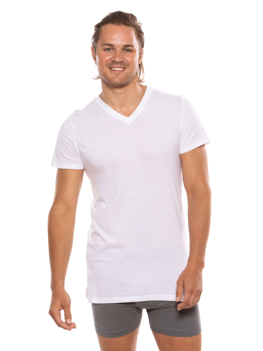 Wayra - Men's Organic Cotton V-Neck Undershirt - TexereSilk