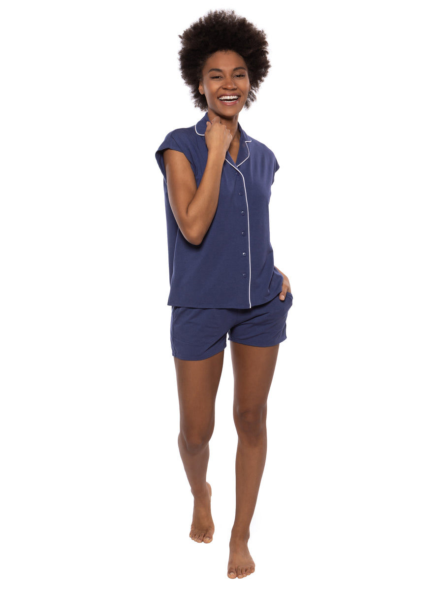 Civita - Women's Drop Shoulder Shorts PJ - TexereSilk