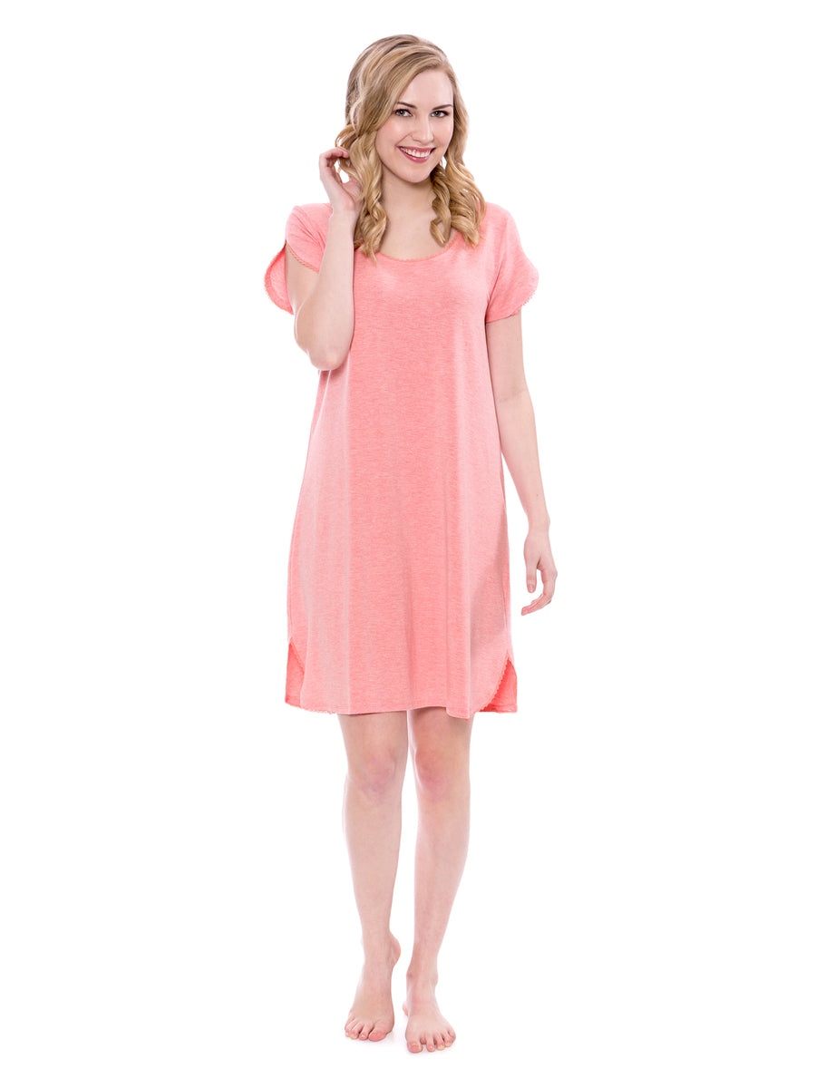 Melodream - Women's Nightgown with Lace Trim - TexereSilk
