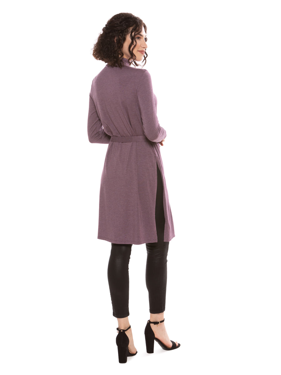 Khrystyna - Women's Bamboo Viscose High Slits Tunic - testing23451234 - Tops