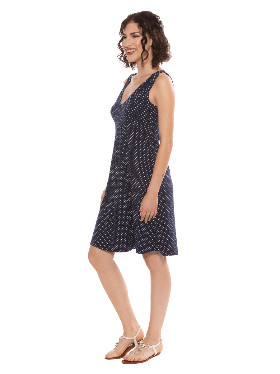 Hinata - Women's Bamboo Viscose Knee Length Dress - TexereSilk