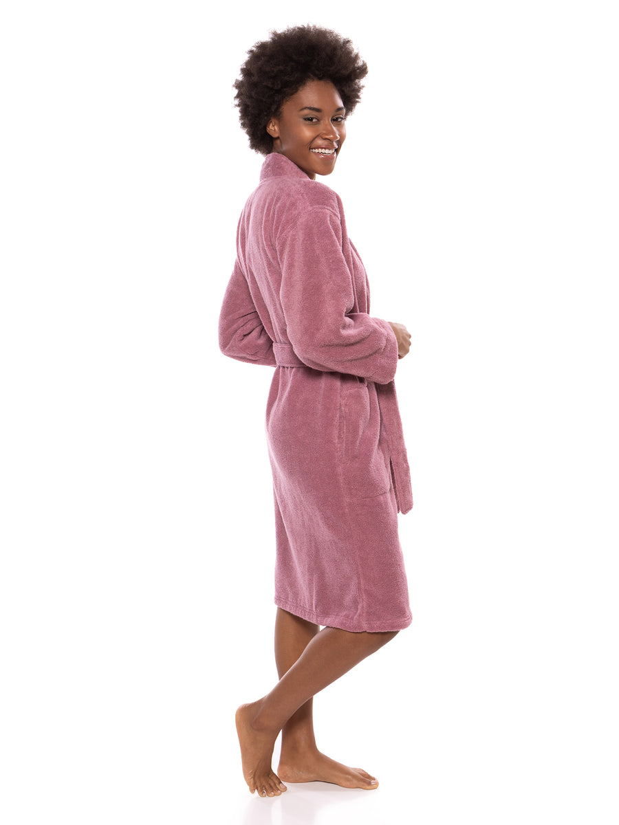 Megeve - Women's Organic Cotton Spa Terry Robe - testing23451234 - Robes