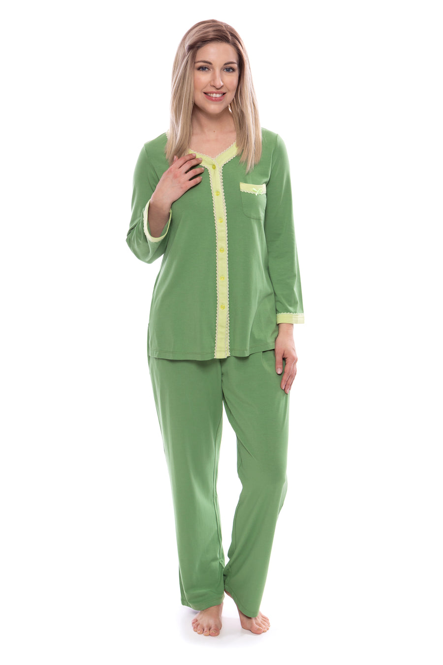 Eco Nirvana - Women's Long Sleeve Pajamas - Clearance - TexereSilk