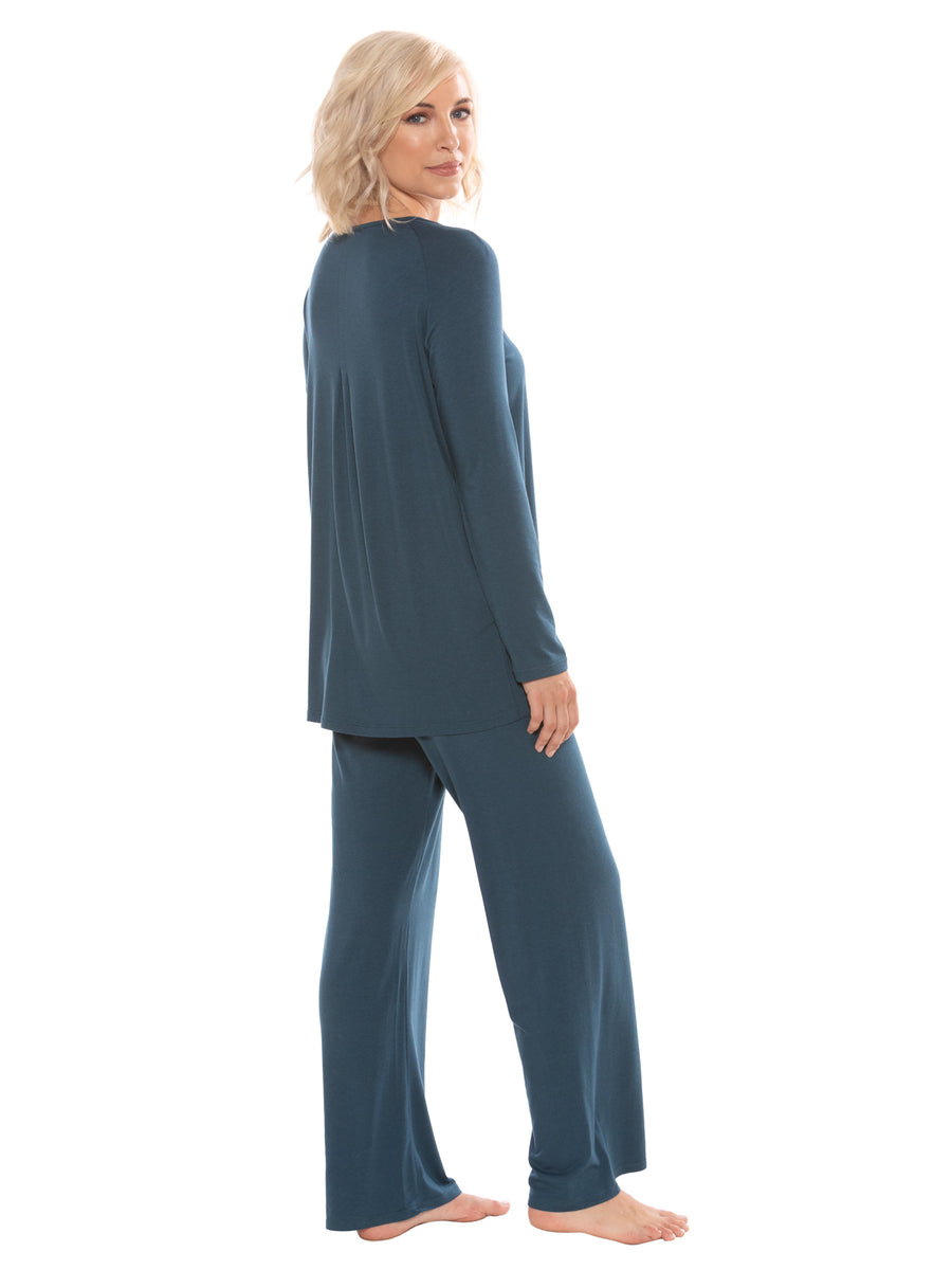 Replenish - Women's Bamboo Viscose Scoop Neck PJ - TexereSilk