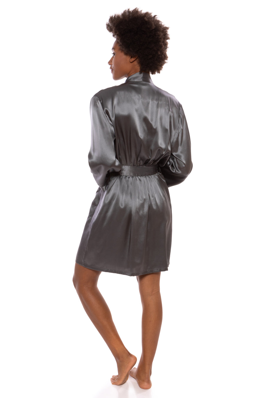 Midnight Jewel - Women's Silk Short Robe - testing23451234 - Robes