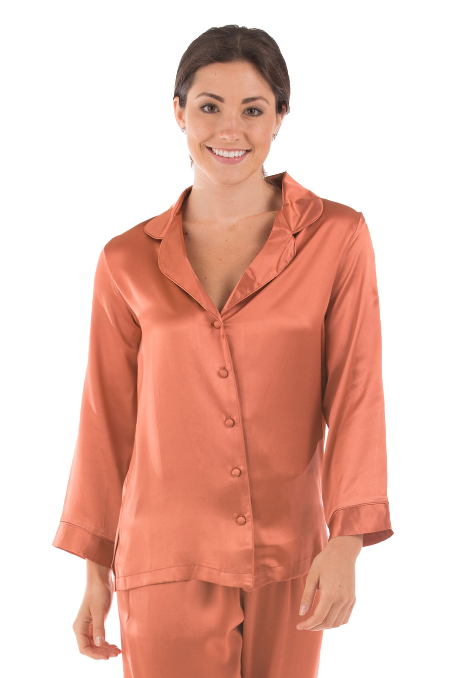 Morning Muse - Women's Silk PJ Top - Clearance - TexereSilk