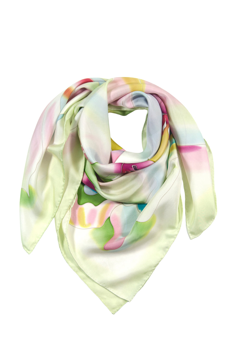 Floral Joy - Women's Silk Hand Painted Square Scarf - TexereSilk