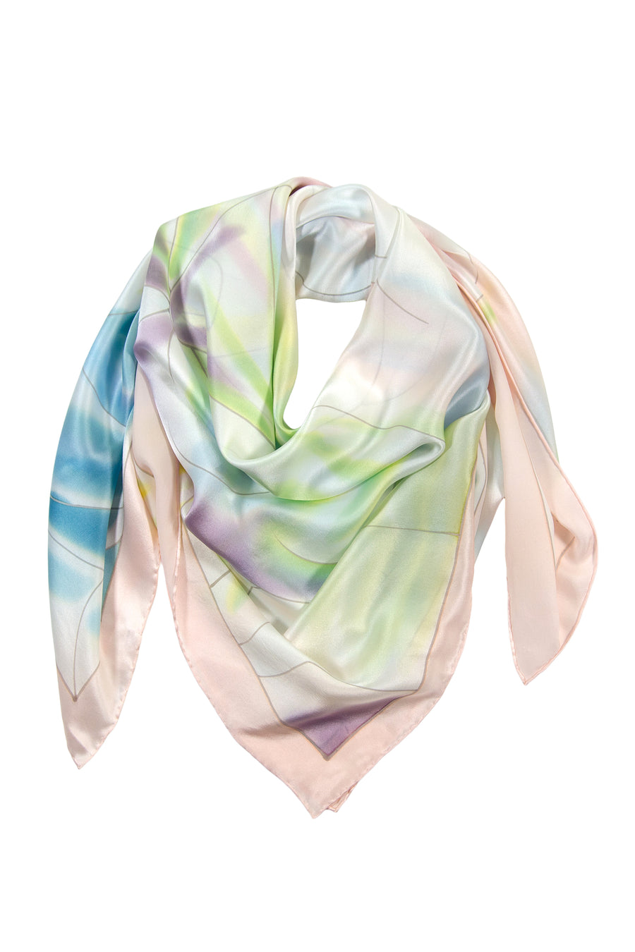Spring Palette - Women's Silk Hand Painted Square Scarf - TexereSilk