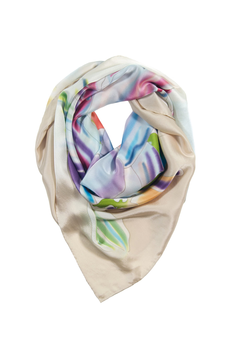 Yosemite River - Silk Hand Painted Square Scarf - TexereSilk