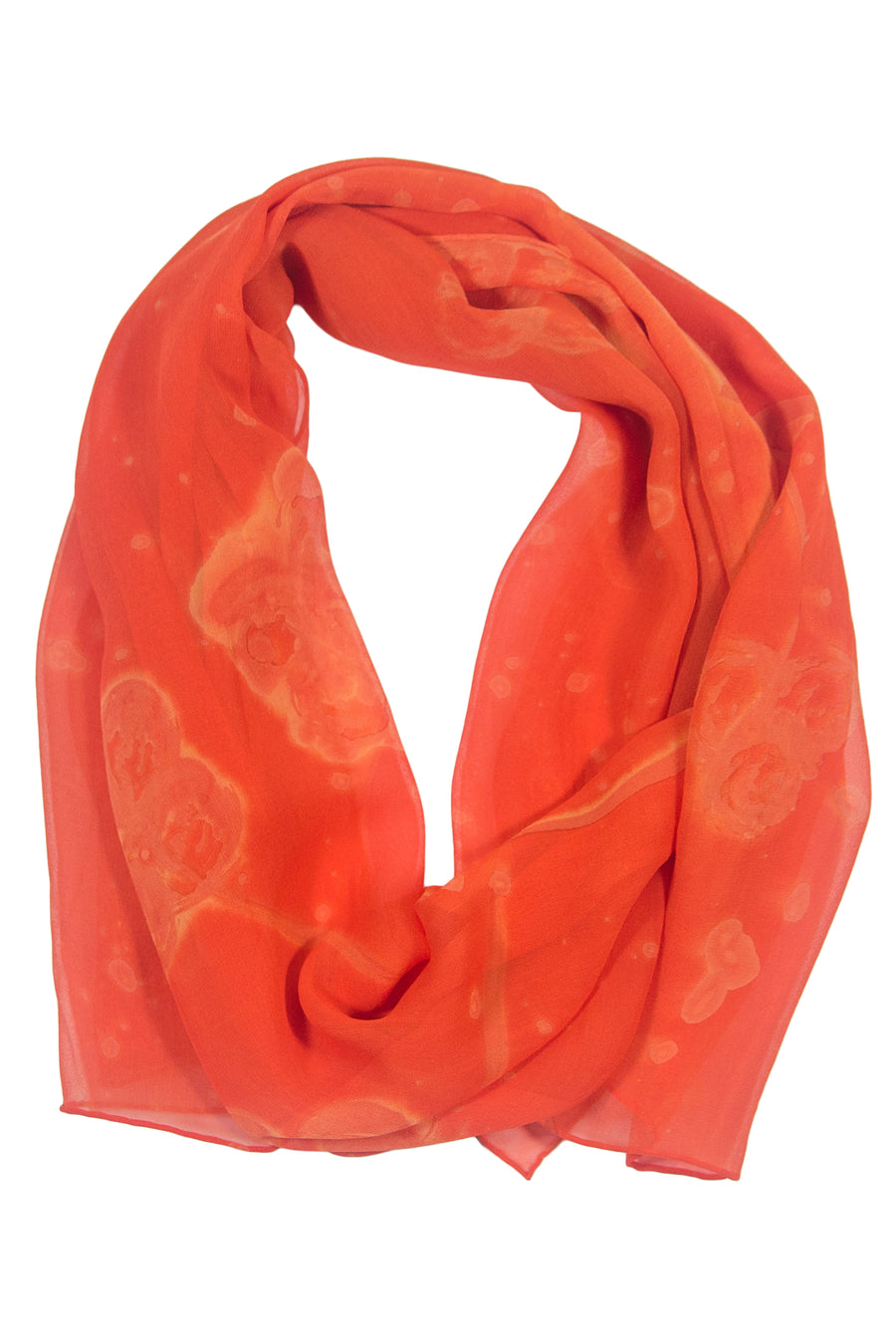 Tangerine Sophisticate - Women's Silk Hand Painted Oblong Scarf - TexereSilk