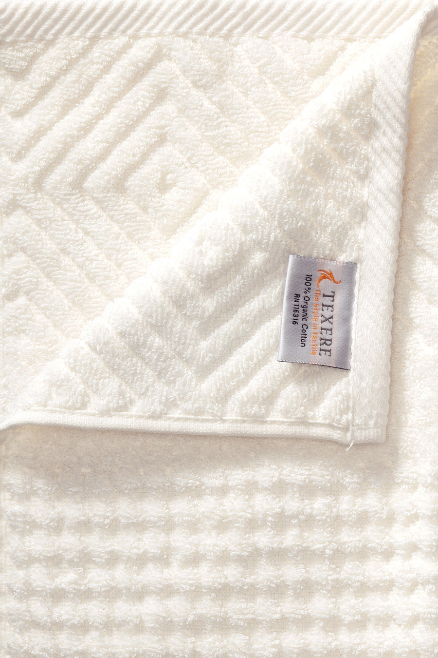 Aloe - Organic Cotton Jacquard Bath Towels - 2 Pack - TexereSilk