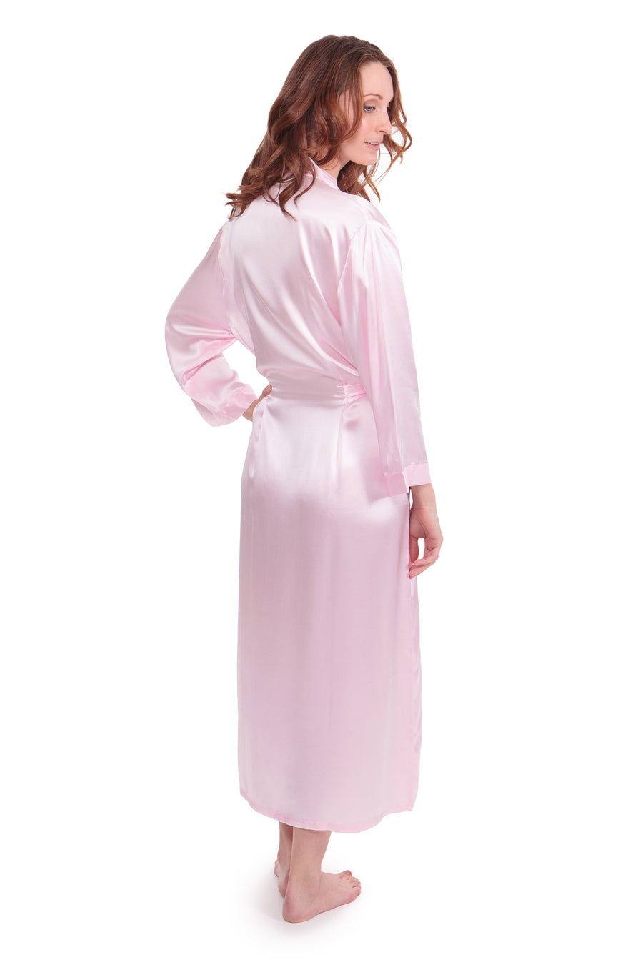 Perla Naturale - Women's Silk Long Robe - testing23451234 - Robes