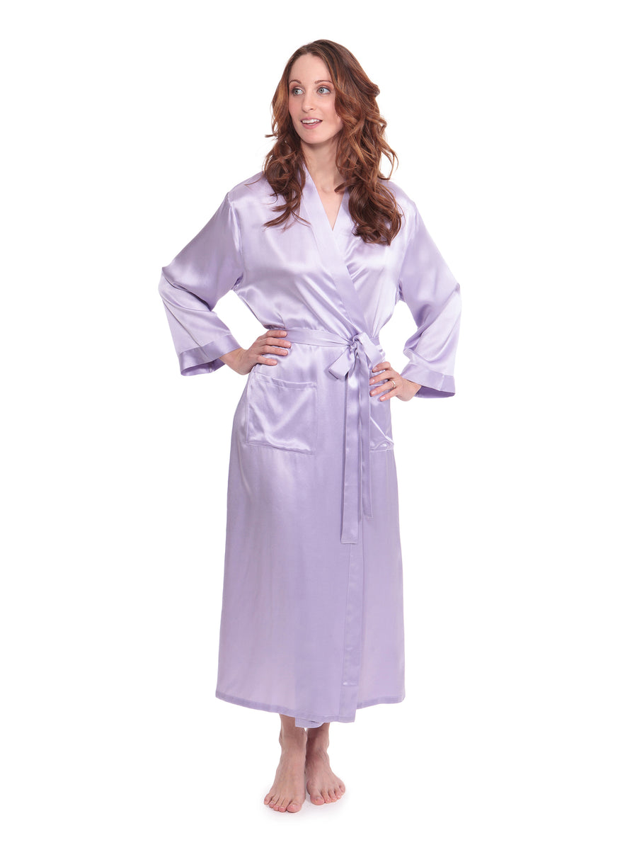 Perla Naturale - Women's Silk Long Robe