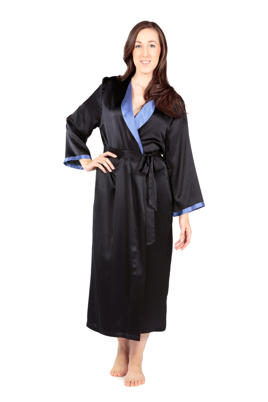 Beautibliss - Women's Silk Long Robe - testing23451234 - Robes
