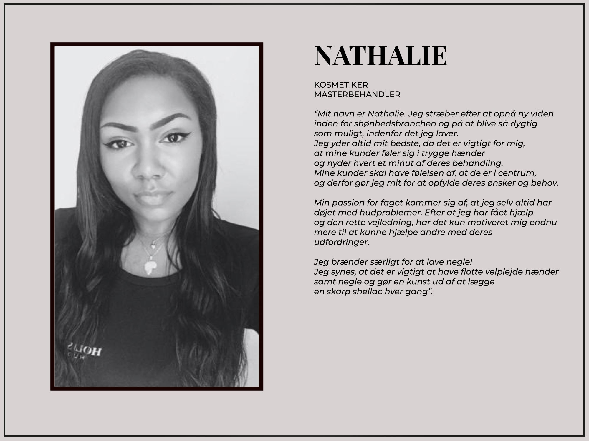 Nathalie - Om Os | Holistic Beauty