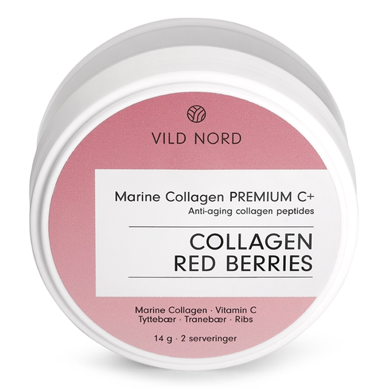 Vild Nord Marine Collagen Premium C+ Red Berries (Travel Size - 10 g) - Kollagenpulver