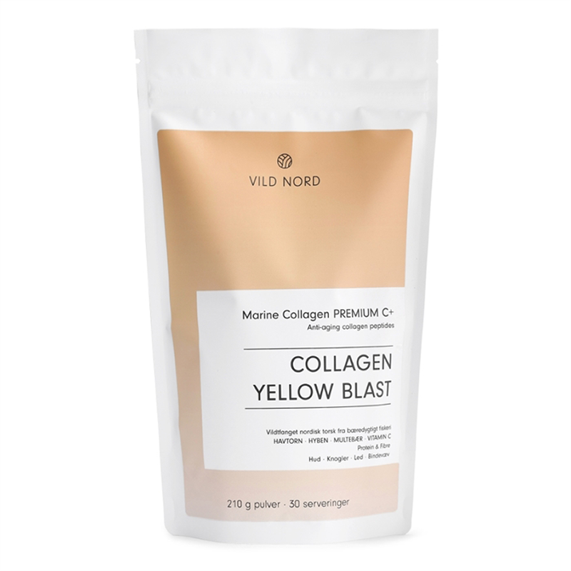 Vild Nord Marine Collagen Premium C+ Yellow Blast (210 g) - Kollagenpulver