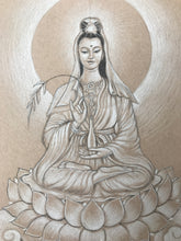 Load image into Gallery viewer, Quan Yin Original Drawing