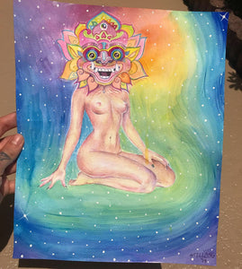 Miss Psychedelia Original Watercolor