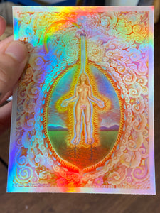 Self Initiation Holographic sticker