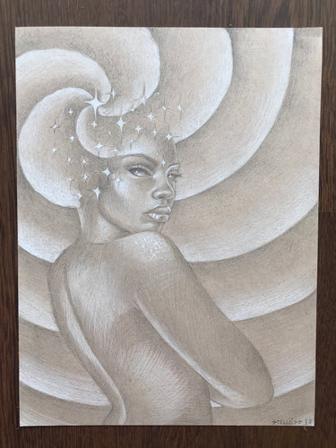 Celestial Goddess Original Drawing