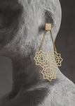 Gold Tri- floret Earrings