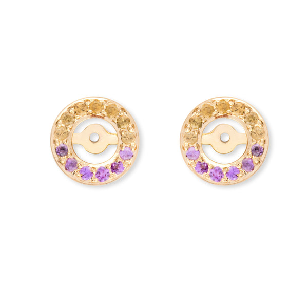 Multi Sapphires Yellow and Pink Halos