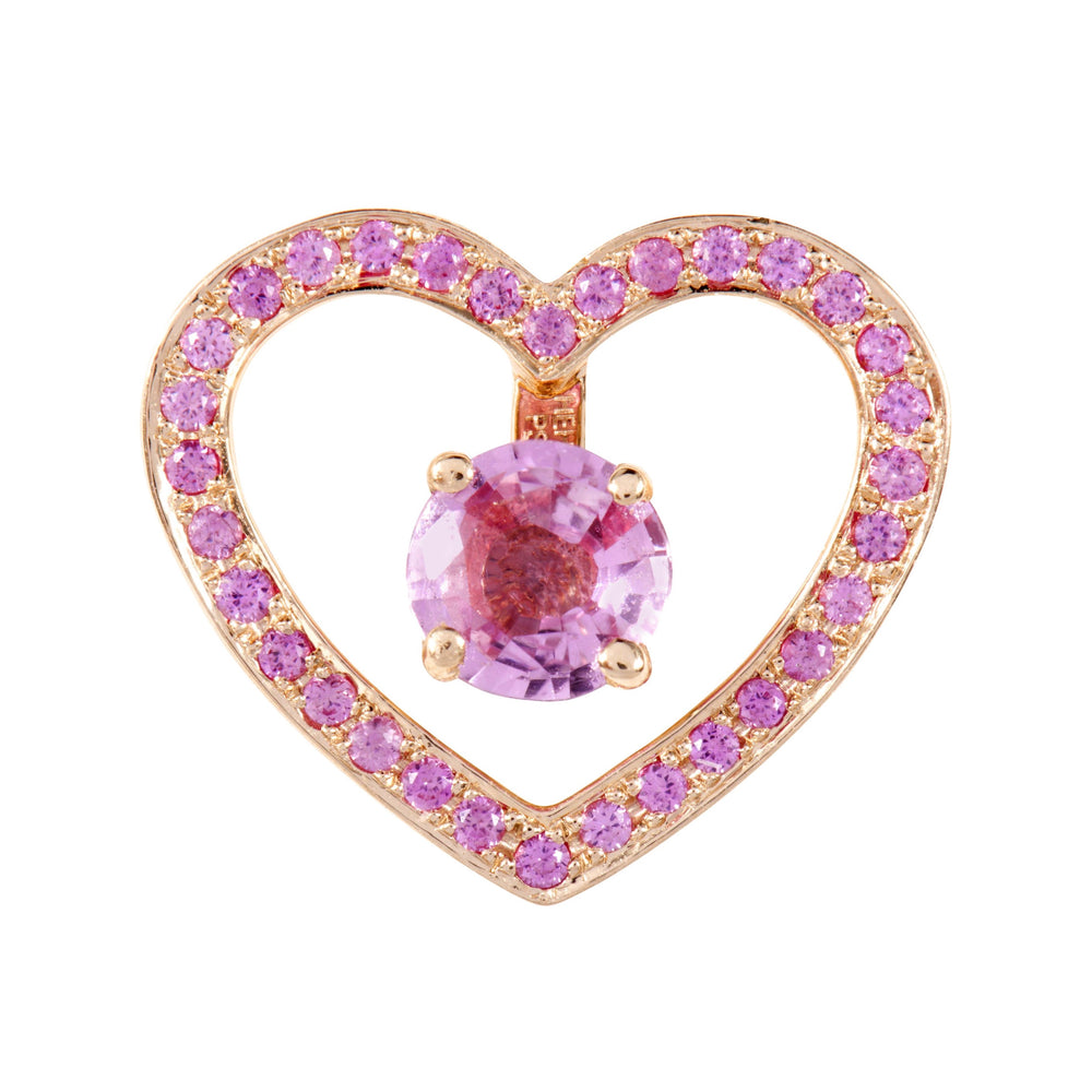 Pink Sapphires Heart Halos