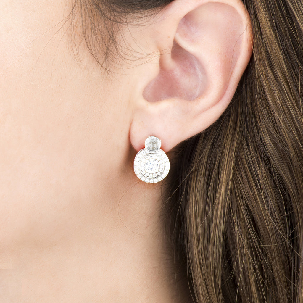 White Diamond Studs