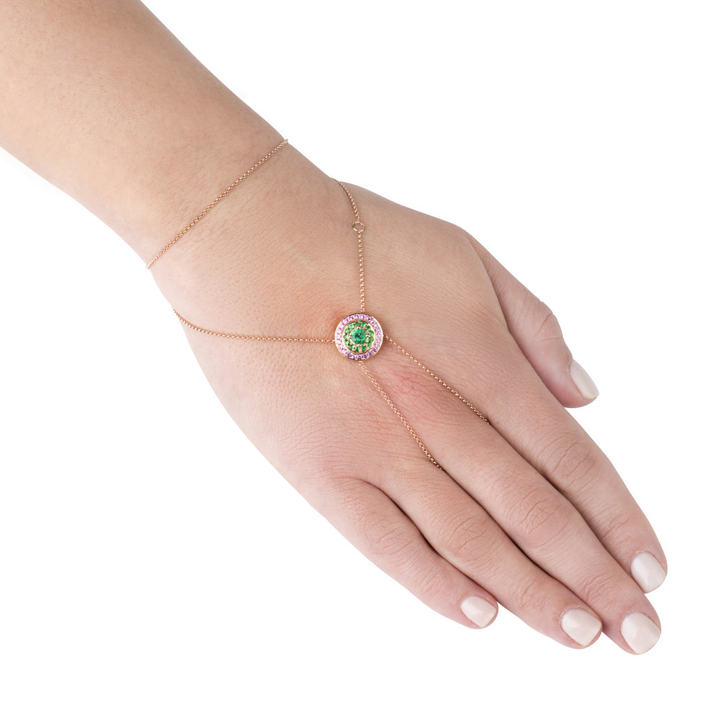 The Alice Emerald and Pink Sapphire Sphère
