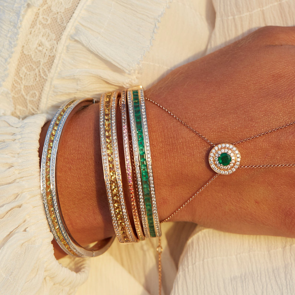 The Emerald Union Bracelet in Rose Gold
