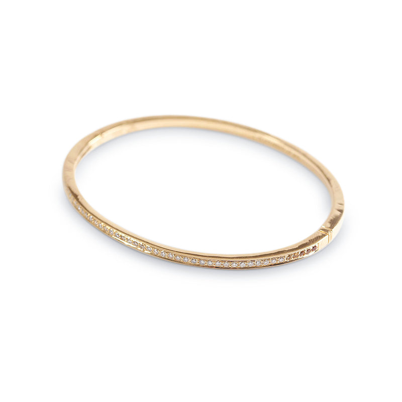 The Diamond and Yellow Sapphire Journey Bracelet in Yellow Gold