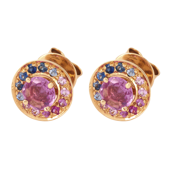 Multi Sapphires Blue and Pink Halos
