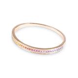 The Rainbow Union Bracelet in Rose Gold