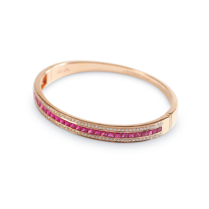 The Ruby Union Bracelet in Rose Gold