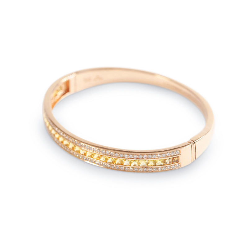 The Yellow Sapphire Union Bracelet in Rose Gold