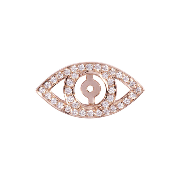 Diamond Eye Halo in Rose Gold