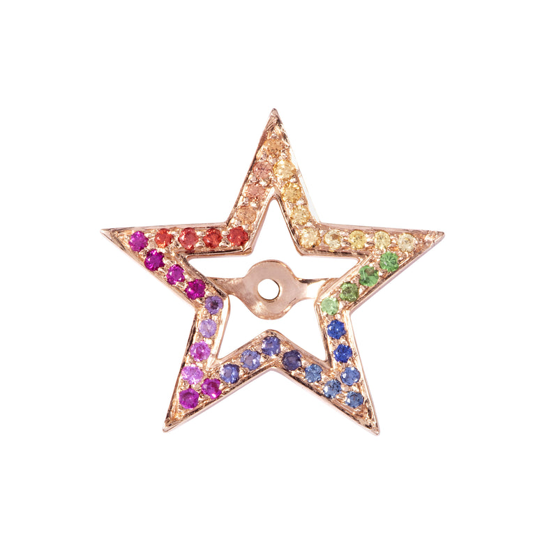Rainbow Star Halos in Rose Gold