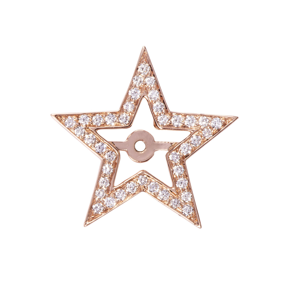 Diamond Star Halo in Rose Gold