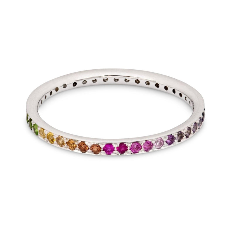The Journey Diamond and Rainbow Ring in White Gold
