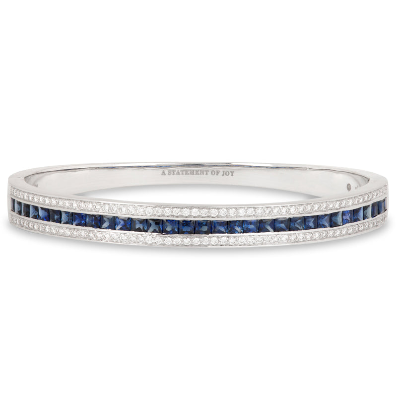 The Blue Sapphire Union Bracelet in White Gold