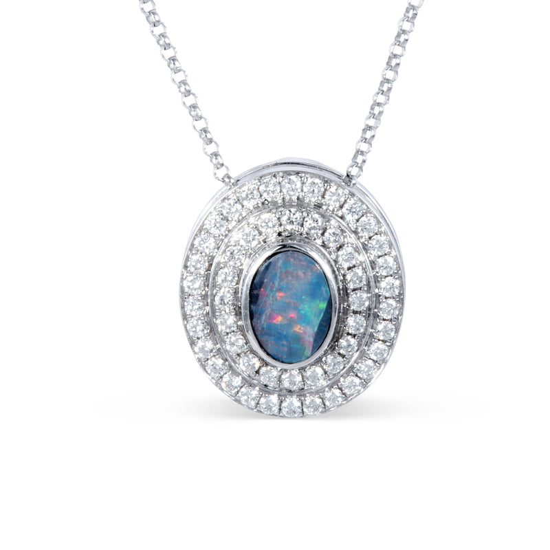 The Alice Blue Opal and Diamonds Eclipse