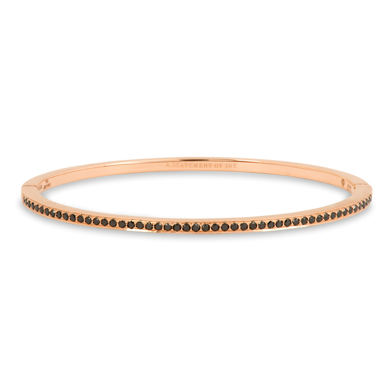 The Black Diamond Journey Bracelet in Rose Gold
