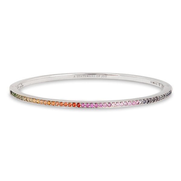 The Rainbow Journey Bracelet in White Gold