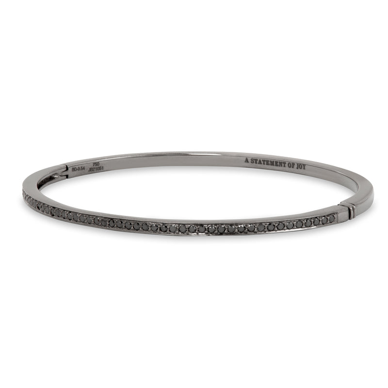 The Black Diamond Journey Bracelet in Black Gold